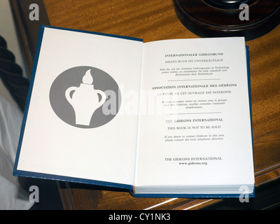 Balaclava Mauritius Gideon Bible in Hotel Maritim Bedroom - Stock Photo