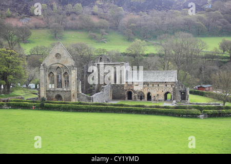 Valle Crucis Abbey, Valley of the Cross, Llangollen, Denbighshire, North Wales, Wales, United Kingdom - Stock Photo