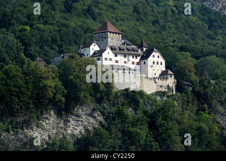Vaduz Castle has its roots in the 12th century - Stock Photo