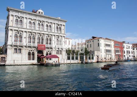 View of Ca' Vendramin Calegri on Grand Canal in Sestiere Cannaregio, Venice, Italy - Stock Photo