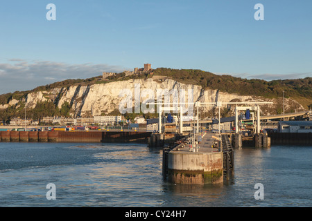 Ferry berth in the Port of Dover, Kent, England - Stock Photo