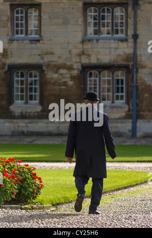 A Porter at Trinity College, Cambridge University, Cambridge UK - Stock Photo