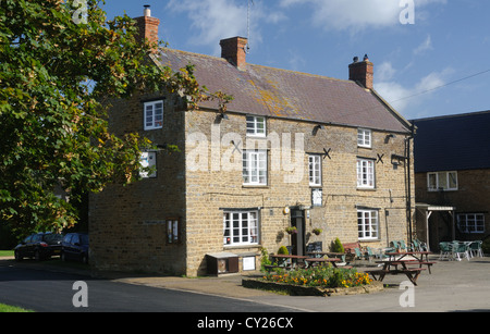 The Three Conies, in Thorpe Mandeville, Northamptonshire, England - Stock Photo