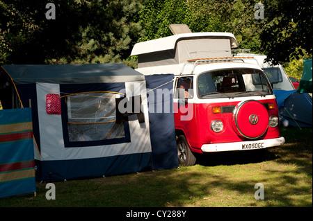 Novelty c&er van tent; Volkswagen C&ervan and Tent Awning Guines France Europe - Stock Photo & Volkswagen camper van and awning / tent at a VW show. England ...