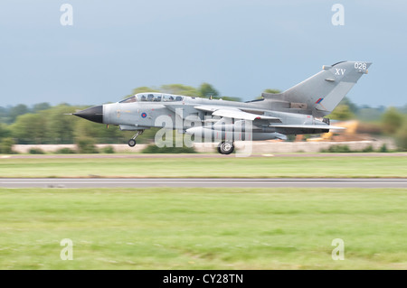Panavia Tornado GR4A GR4 ZA461 from Royal Air Force 15 Squadron takes off  at the 2012 Royal International Air Tattoo - Stock Photo