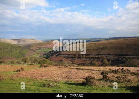 Horseshoe Pass, near Llangollen, Denbighshire, North Wales, Wales, United Kingdom, Europe - Stock Photo