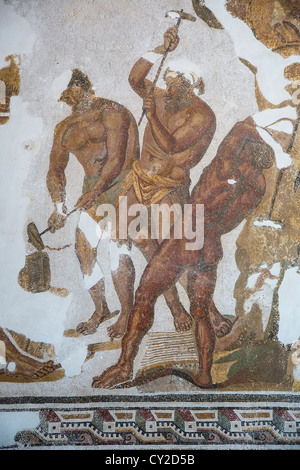 Cyclops Mosaic from Dougga at the Bardo Museum in Tunis Tunisia - Stock Photo