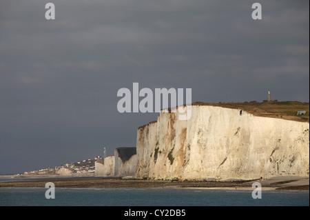 Cliffs near Mers-les-Bains, Picardy, France - Stock Photo