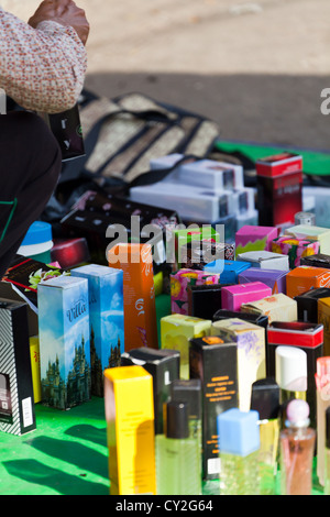 Sale of Perfume on the Street in Phnom Penh, Cambodia - Stock Photo