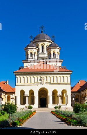Coronation Cathedral in Alba Iulia known as Reunification Cathedral - Stock Photo