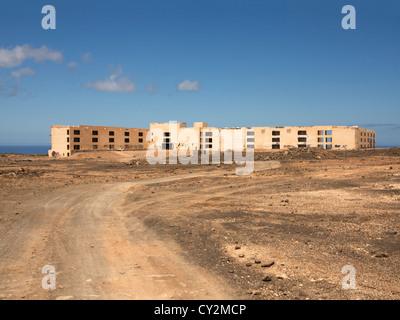 Atlante del Sol derelict hotel, Lanzarote, Canary Islands, example of unchecked development - Stock Photo
