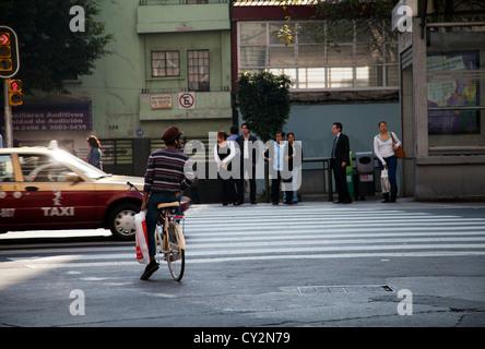Avenida Insurgentes in Condesa area of Mexico City on a Friday - Mexico - Stock Photo