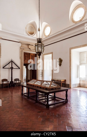Antechamber of the Library. Mafra National Palace, Convent and Basilica in Portugal. Baroque architecture. - Stock Photo
