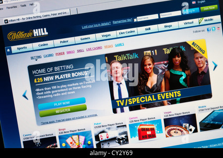 Home page of the William Hill online betting web site. - Stock Photo