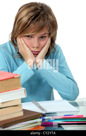 Really don't want to do my homework. - Stock Photo