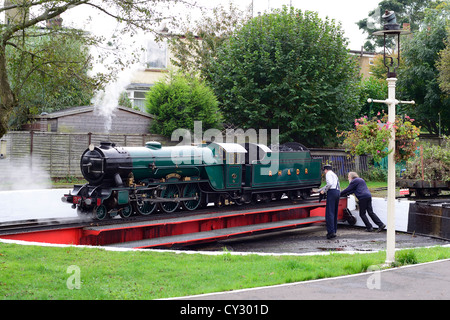 Dungeness Light Railway Engine on Turntable - Stock Photo