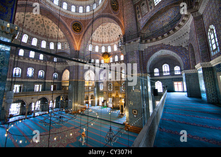 Interior of the Sultan Ahmed (Blue) mosque, Istanbul - Stock Photo