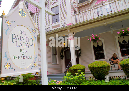 Massachusetts Cape Cod Sandwich Jarves Street The Painted Lady Bed & and Breakfast B&B B & B Victorian-style architecture - Stock Photo