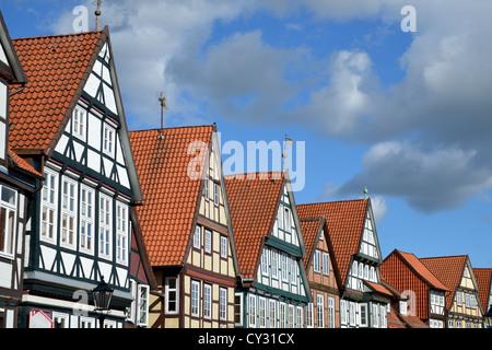 Half-timbered houses - Stock Photo