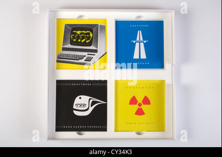 Kraftwerk The Catalalogue box set CD's - Stock Photo