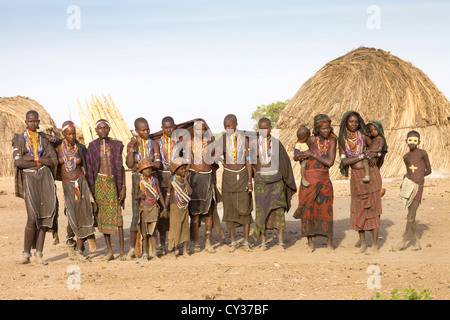 Erbore tribe, Omo River Valley, Ethiopia - Stock Photo