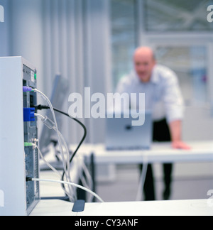business people data center control center man License free except ads and outdoor billboards Stock Photo