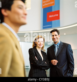 manager business man woman group License free except ads and outdoor billboards