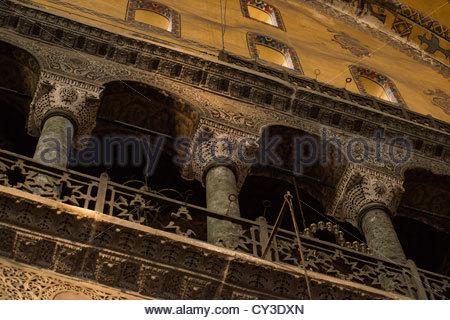 Interior of Hagia Sophia Istanbul - Stock Photo