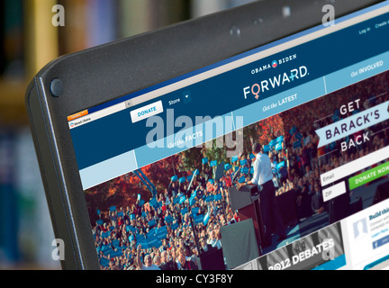 US Democratic President Barack Obama's website for the 2012 presidential election, USA - Stock Photo