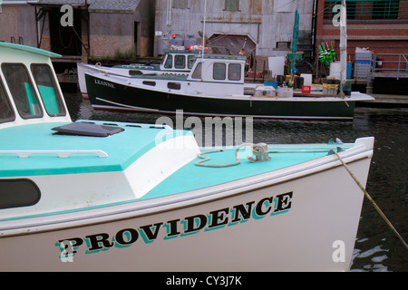 Lobster boat in portland maine stock photo royalty free for Portland maine fishing