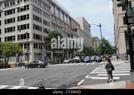 9th & E street in Northwest Washington, DC - Stock Photo