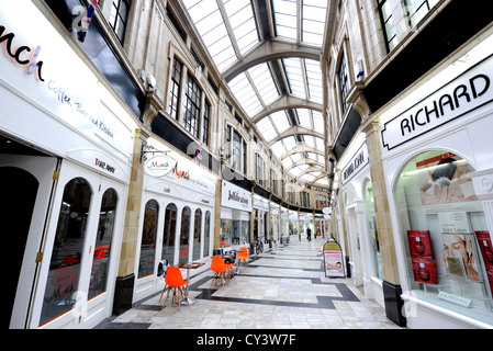 The Royal Arcade shops Worthing town centre West Sussex UK - Stock Photo