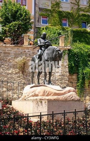 Statue of St George, near Kamenita vrata Zagreb - Stock Photo