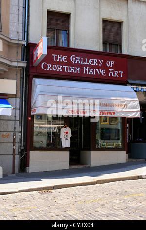 The gallery of Croatian Native Art in Zagreb - Stock Photo