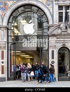 The Apple Store in Regent Street, London - Stock Photo