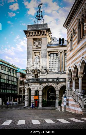 Piazza della Liberta in Udine Italy - Stock Photo