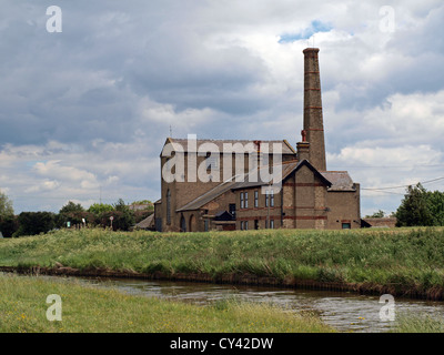 Building containing Stretham Old Engine the preserved coal powered steam fen drainage pump in Stretham Ely Cambridge - Stock Photo