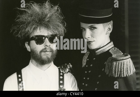 EURYTHMICS  Promotional photo of UK rock duo Annie Lennox and Dave Stewart about  1981 - Stock Photo