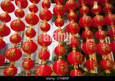 Chinese lantern street decoration, in London's Chinatown ...
