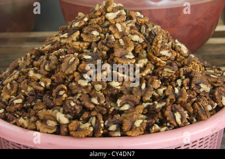 Bazaar, fruits and nuts, Samarkand, Uzbekistan - Stock Photo