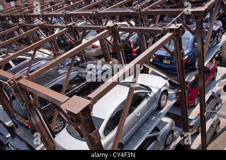 Elevator Parking Garage in Chelsea - New York City, USA - Stock Photo
