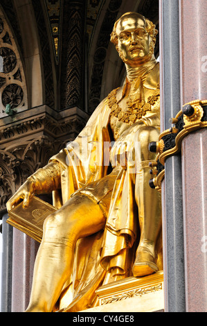 London, England, UK. Albert Memorial in Kensington Gardens (George Gilbert Scott -1872, statue added 1875) - Stock Photo