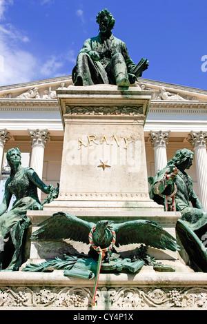 Monument to Poet János Arany in Budapest - Stock Photo