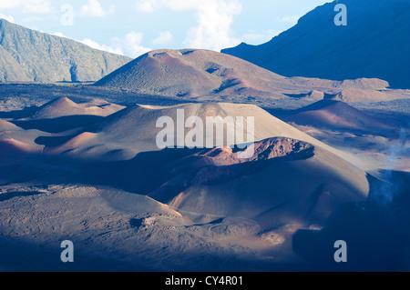 Elk284-4832 Hawaii, Maui, Haleakala National Park, crater landscape from rim - Stock Photo