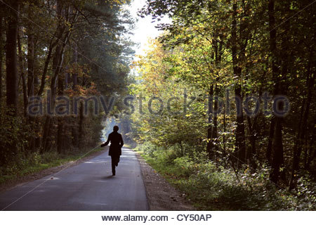 Woman running - Stock Photo