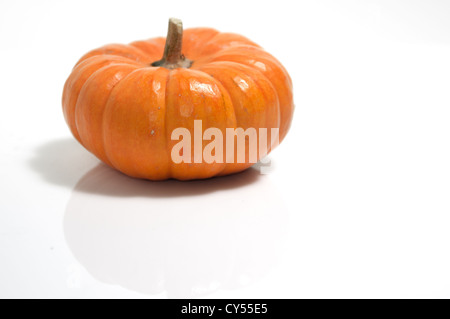 Fairytale pumpkin isolated on white background - Stock Photo