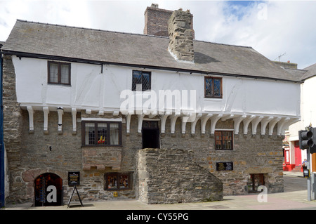 Aberconwy House medieval merchants home & oldest house in Conwy built circa 1300 and owned by The National Trust