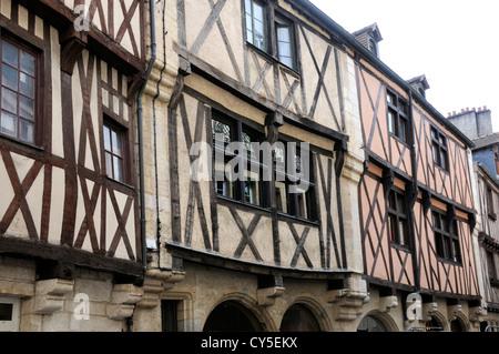 Timber-framed house, Dijon, Cote d'Or, Burgundy, France - Stock Photo