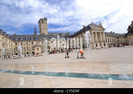 Ducal Palace, city hall, Place de la Liberation Square, Dijon, Cote d'Or, Bourgogne, Burgundy, France, Europe - Stock Photo