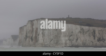 Chalk Cliffs of the Alabaster Coast near Mers-les-Bains, Picardy, France - Stock Photo